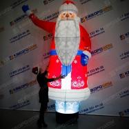 Новогодняя декорация Дед Мороз с машущей рукой