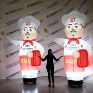 Фигура надувная рекламная с подсветкой Повар