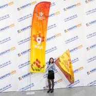 Мобильный флаг виндер 9мая