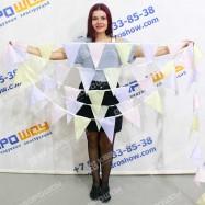 Флажная лента треугольник в пастельных тонах