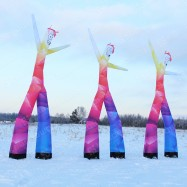 Декорации надувные на день города аэромены 3 штуки