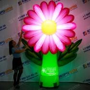 Украшение для праздника надувной цветок