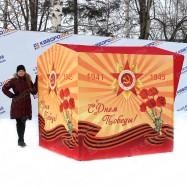 Каркасная палатка с символикой День Победы