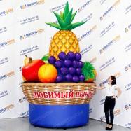 большие надувные рекламные фрукты виноград ананас яблоко персик