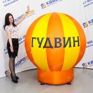 рекламные шар на опоре для крыши с логотипом
