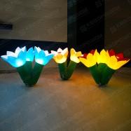 Декорации с подсветкой в виде цветов