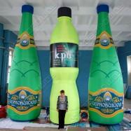 Надувные бутылки, высота 6м