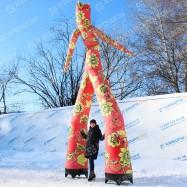 декорации на масленицу надувной человечек аэромен хохлома
