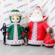 Фигуры новогодние надувные Дед Мороз и Снегурочка