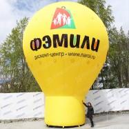 Надувная фигура капля на опоре размером 10х7 метров