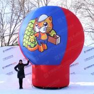 Геостат шар на опоре с фирменным символом на заказ