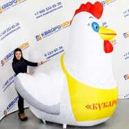 Надувное рекламное изделие Курица