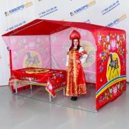 Торговая палатка на металлокаркасе принт городецкая роспись