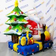 Композиция праздничная надувной Дед Мороз с подарками