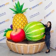 Надувная рекламная корзина с фруктами