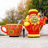Надувные декорации на масленицу Чашка и Самовар