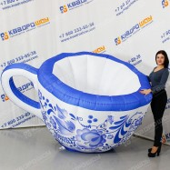 Надувная Чашка Гжель