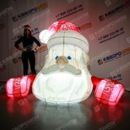Надувная конструкция для новогоднего праздника голова Деда Мороза