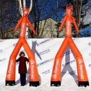 надувная фигура аэромен оранжевый с печатью логотипа