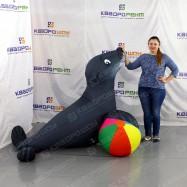 Пневмофигура цирковой морской тюлень для рекламной акции