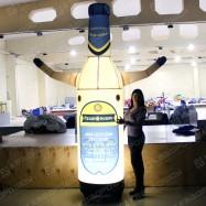 надувная рекламная конструкция пивная бутылка машет рукой