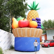 Надувная фигура корзина с фруктами