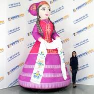 надувная конструкция на сабантуй девушка в национальном платье