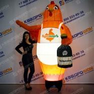 Надувная фигура Курица с пельменями и с подсветкой