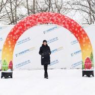 надувная новогодняя фигура арка красная