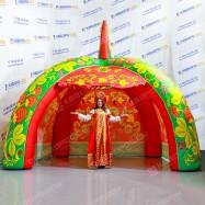 Надувная палатка для торговли на масленице
