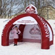 Надувная уличная палатка для рекламы