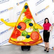 воздушная пицца зазывала для рекламы