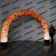 надувная праздничная арка хохлома с подсветкой