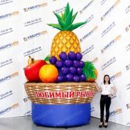 надувная рекламная конструкция корзина фруктов