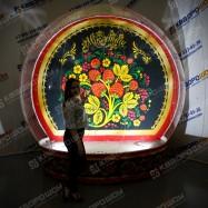 Надувной Чудо-Шар фотозона на Масленицу с подсветкой