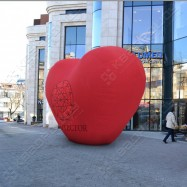 Надувная конструкция в виде сердца