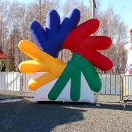 Надувная четырехцветная декорация