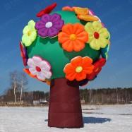 Надувное дерево с надувными цветами