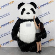 Панда надувная меховой костюм