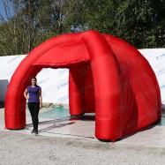 надувной красный павильон