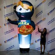 рекламный зазывала ниндзя с пиццей