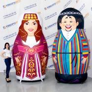 надувные фигуры армянская и узбекская матрешки