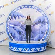 Новогодняя фотозона надувная Зима