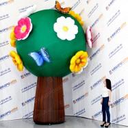 объемная фигура цветочное дерево