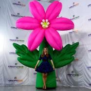 Надувной растение цветок