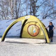 Надувная конструкция палатка герметичная желтая 4х4м