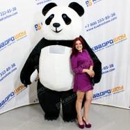 Надувной костюм из меха Панда