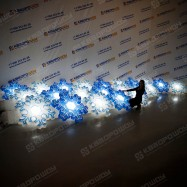 Гирлянда с подсветкой Снежинки