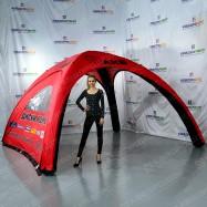 Надувное сооружение палатка с логотипом