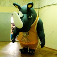 Надувной костюм Носорог